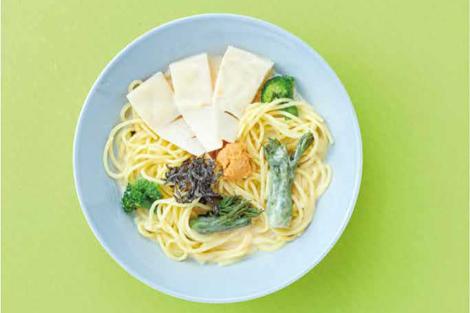 春野菜の白みそスープパスタ